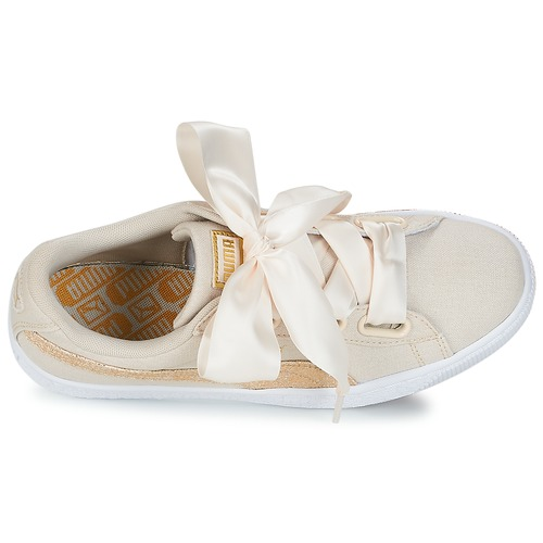 Puma BASKET HEART CANVAS TurnschuheLow W'S Beige  Schuhe TurnschuheLow CANVAS Damen 71,19 b5e8a4