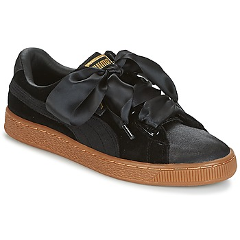 Schuhe Damen Sneaker Low Puma BASKET HEART VS W'N Schwarz