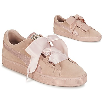 Schuhe Damen Sneaker Low Puma W SUEDE HEART EP Rose