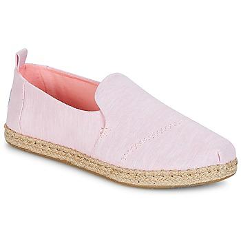 Schuhe Damen Leinen-Pantoletten mit gefloch Toms Deconstructed Alpargata Rope Rose