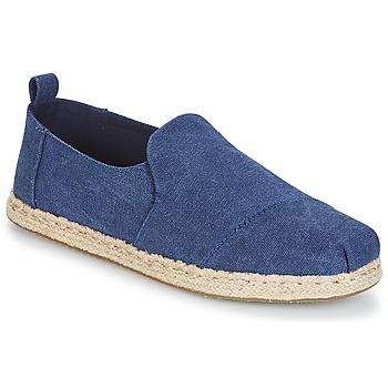 Schuhe Herren Leinen-Pantoletten mit gefloch Toms DECONSTRUCTED ALPARGATA ROPE Blau