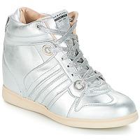 Schuhe Damen Sneaker High Serafini MANHATTAN Silbern