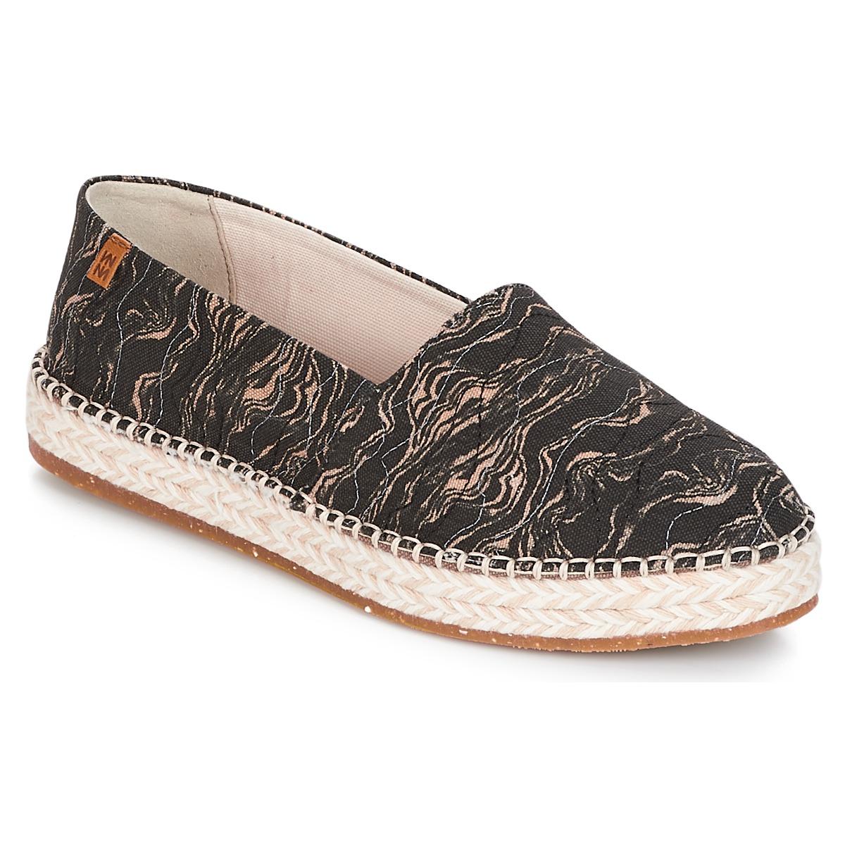 El Naturalista SEAWEED CANVAS Schwarz / Grau - Kostenloser Versand bei Spartoode ! - Schuhe Leinen-Pantoletten mit gefloch Damen 87,20 €