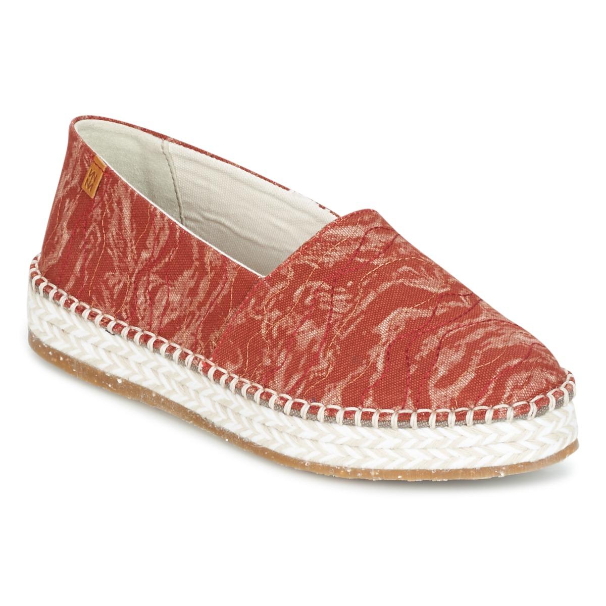 El Naturalista SEAWEED CANVAS Rot / Orange - Kostenloser Versand bei Spartoode ! - Schuhe Leinen-Pantoletten mit gefloch Damen 87,20 €