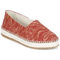Schuhe Damen Leinen-Pantoletten mit gefloch El Naturalista SEAWEED CANVAS Rot / Orange
