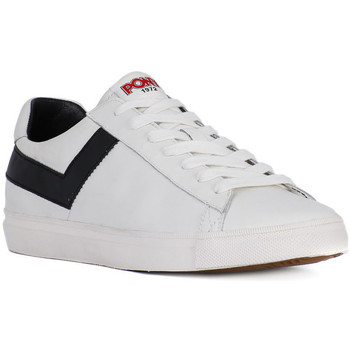 Schuhe Herren Sneaker Low Pony TOPSTAR OX WHITE BLACK Bianco