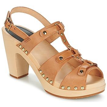 Schuhe Damen Sandalen / Sandaletten Swedish hasbeens BRASSY Camel