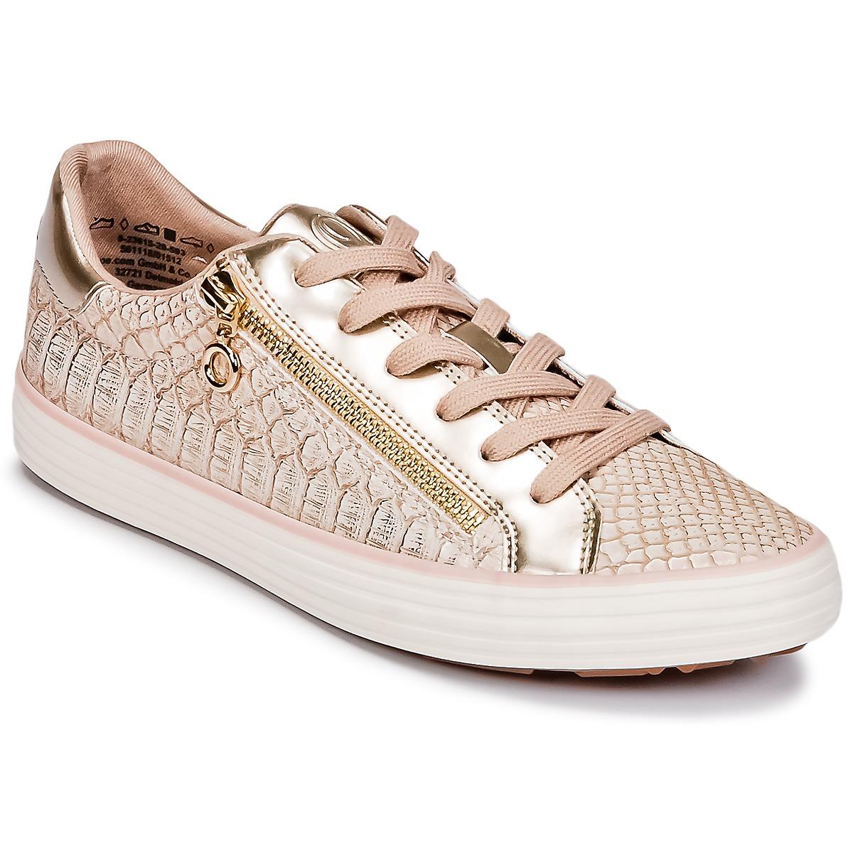 SOliver BOOMBO Rose / Gold - Kostenloser Versand bei Spartoode ! - Schuhe Sneaker Low Damen 48,00 €