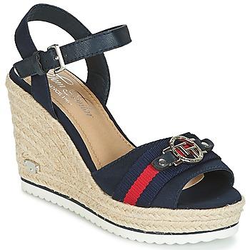 Schuhe Damen Sandalen / Sandaletten Tom Tailor CRYSTYA Marine
