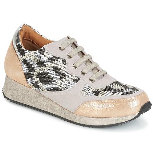Karston SEMIR Beige / Gold  Schuhe TurnschuheLow Damen 79,92