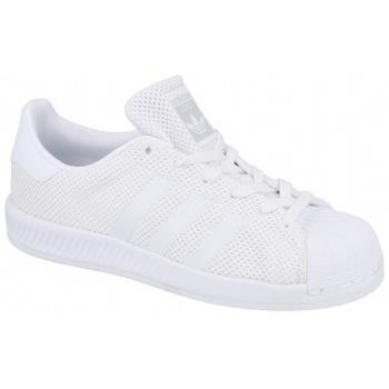 Schuhe Kinder Sneaker Low adidas Originals Superstar Bounce BY1589 Białe
