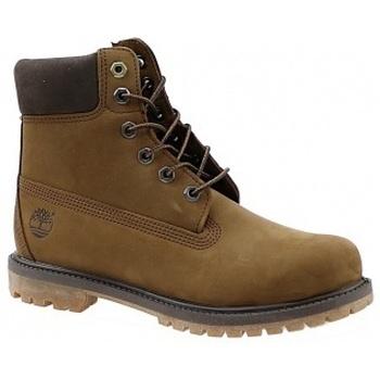 Schuhe Damen Boots Timberland 6 Premium Boot A19RI Brązowe