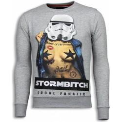 Kleidung Herren Sweatshirts Local Fanatic Stormbitch Strass Grau