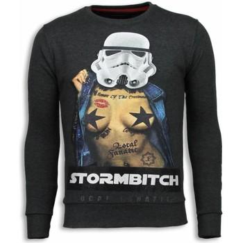 Kleidung Herren Sweatshirts Local Fanatic Stormbitch Strass Steinkohle Grau