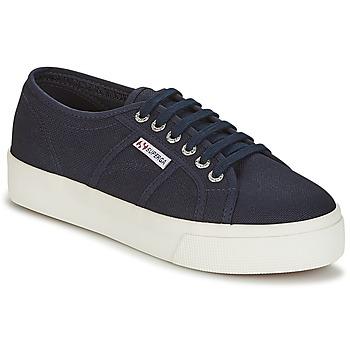 Schuhe Damen Sneaker Low Superga 2730 COTU Marine / Weiss