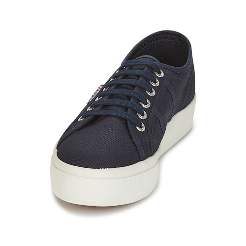 Superga 2730 COTU Marine / / / Weiss  Schuhe Sneaker Low Damen 63,19 13dea7