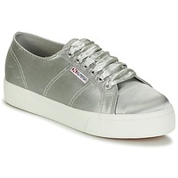 Schuhe Damen Sneaker Low Superga 2730 SATIN W Grau