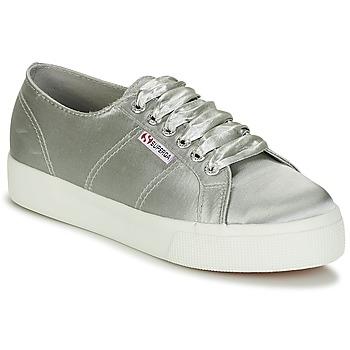 Schuhe Damen Sneaker Low Superga 2730 SATIN W Grau