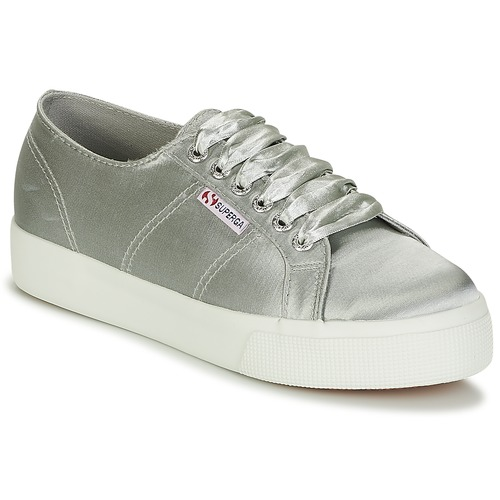 Superga 2730 SATIN W Grau  Schuhe Sneaker Low Damen 71,19