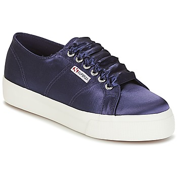 Schuhe Damen Sneaker Low Superga 2730 SATIN W Marine