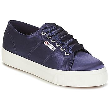 Schuhe Damen Sneaker Low Superga 2730 SATIN W Marine