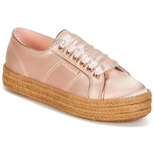 Superga 2730 SATIN COTMETROPE W Rosa  Schuhe Schuhe Schuhe Turnschuhe Low Damen 7c4752