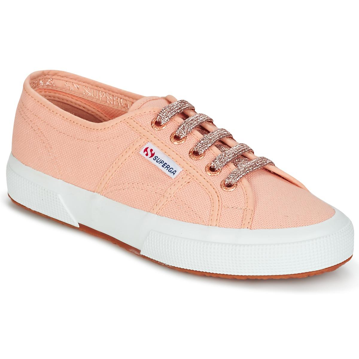 Superga 2750 CLASSIC SUPER GIRL EXCLUSIVE Pfirsisch - Kostenloser Versand bei Spartoode ! - Schuhe Sneaker Low Damen 48,99 €