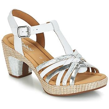 Schuhe Damen Sandalen / Sandaletten Gabor MASTIAR Weiss / Silbern