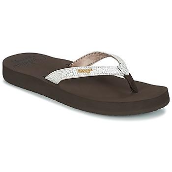 Schuhe Damen Zehensandalen Reef STAR CUSHION SASSY Braun / Weiss