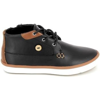 Schuhe Kinder Sneaker High Faguo Wattle Leather BB Noir Schwarz