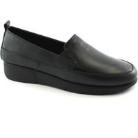 Schuhe Damen Slipper Grunland GRÜNLAND GOOD SC3581 schwarze Hosen Frau elastische Haut Nero