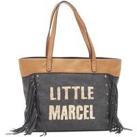 Taschen Damen Shopper / Einkaufstasche Little Marcel Sac Shopping Victoire Noir VI 01 Schwarz