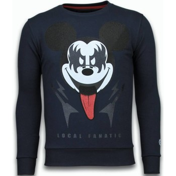Kleidung Herren Sweatshirts Local Fanatic Kiss My Mickey Strass Blau