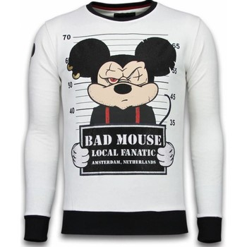 Kleidung Herren Sweatshirts Local Fanatic Bad Mouse Strass Weiß