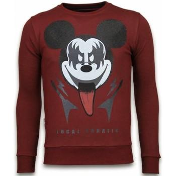 Kleidung Herren Sweatshirts Local Fanatic Kiss My Mickey Strass Bordeaux