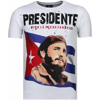 Kleidung Herren T-Shirts Local Fanatic Presidente Strass Weiß