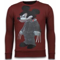 Kleidung Herren Sweatshirts Local Fanatic Bad Mouse Strass Bordeaux