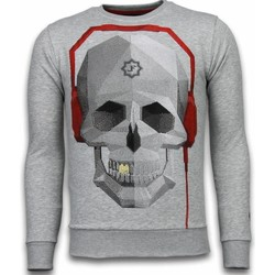 Kleidung Herren Sweatshirts Local Fanatic Skull Beat Strass Grau