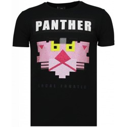 Kleidung Herren T-Shirts Local Fanatic Panther For A Cougar Strass Schwarz