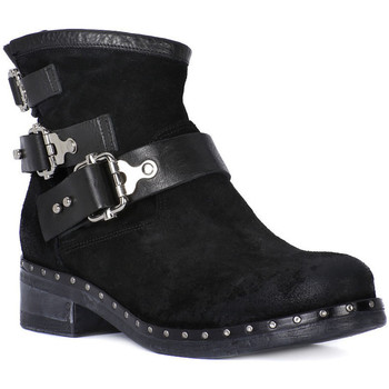 Schuhe Damen Low Boots Juice Shoes TACCO BLACK Nero