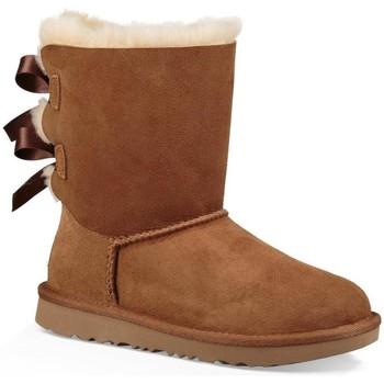 Schuhe Mädchen Schneestiefel UGG K BAILEY BOW II Braun