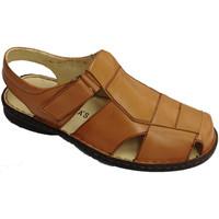 Schuhe Herren Slipper 30´s Geschlossene Zehe Sandalen von Klettschl Braun