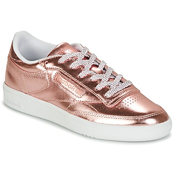 Schuhe Damen Sneaker Low Reebok Classic CLUB C 85 S SHINE Rose / Mettalfarben