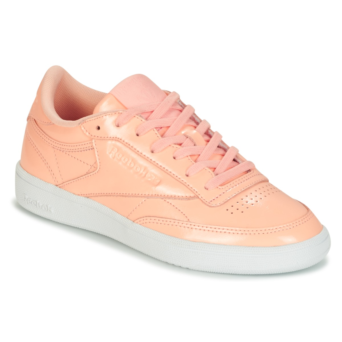 Reebok Classic CLUB C 85 PATENT Rose - Kostenloser Versand bei Spartoode ! - Schuhe Sneaker Low Damen 70,00 €