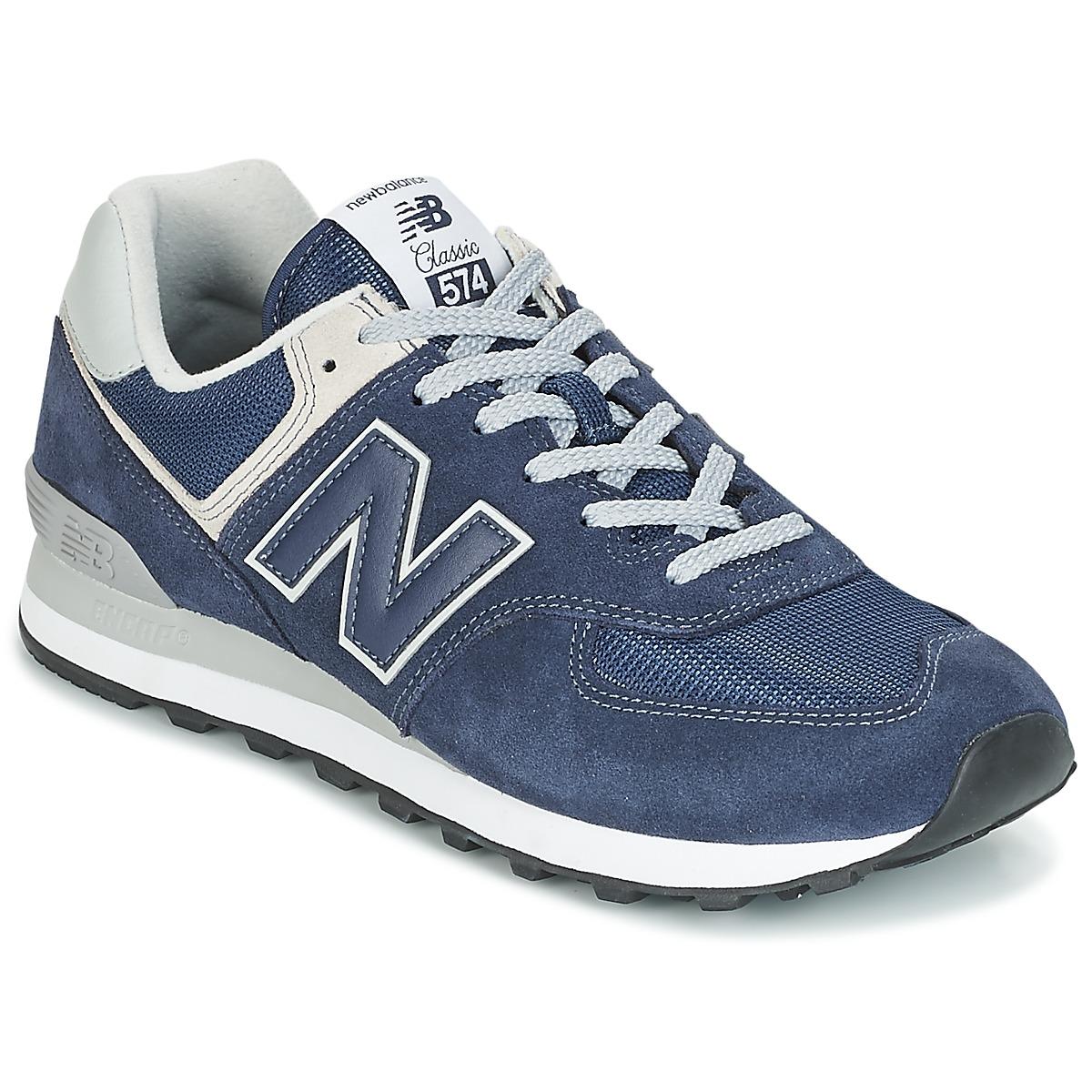 New Balance ML574 Blau - Kostenloser Versand bei Spartoode ! - Schuhe Sneaker Low Herren 79,99 €