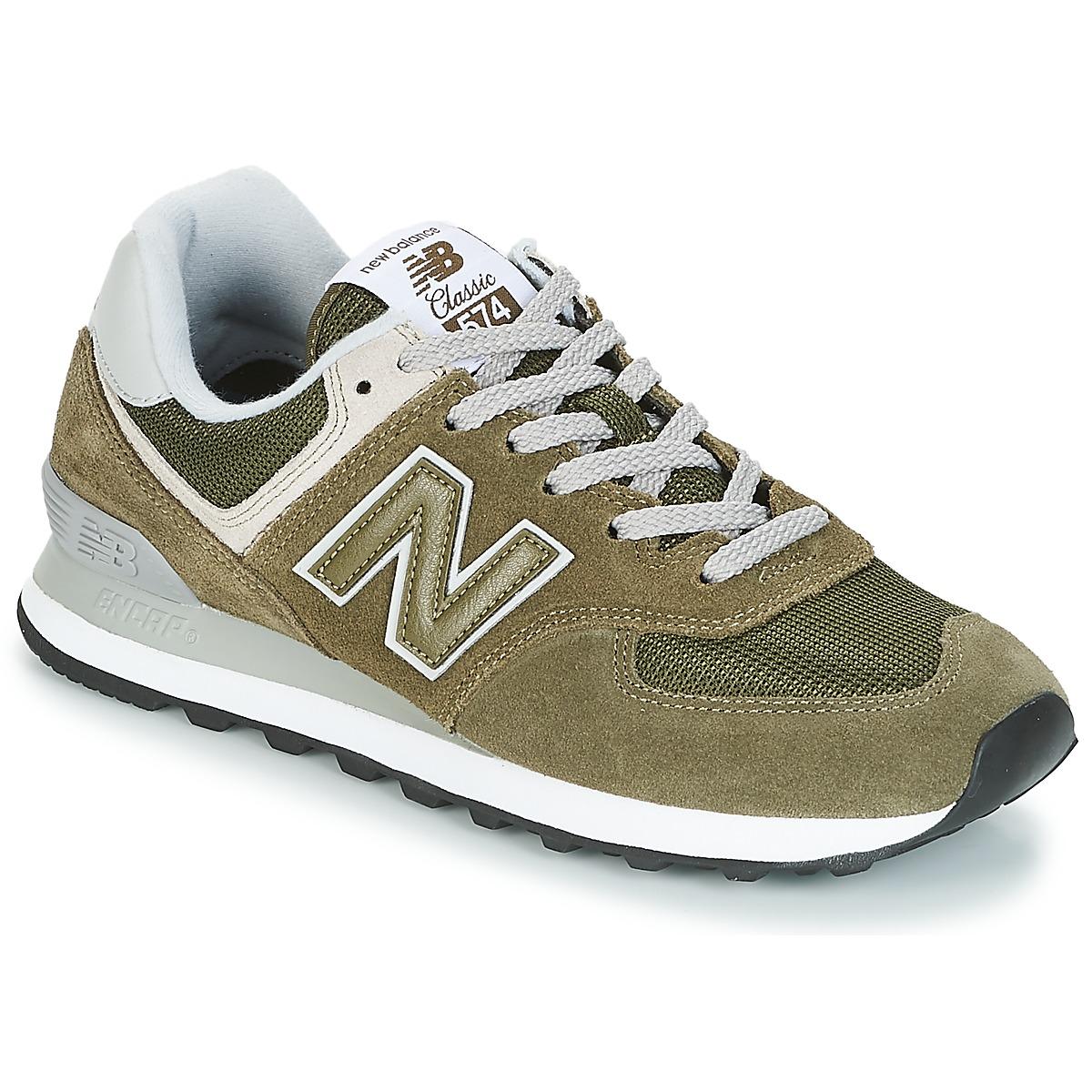 New Balance ML574 Olive - Kostenloser Versand bei Spartoode ! - Schuhe Sneaker Low  79,99 €