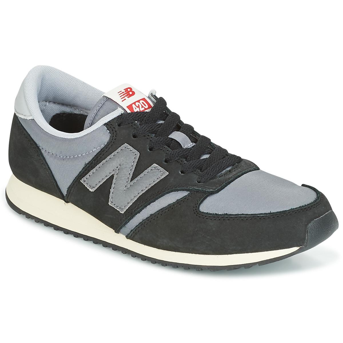New Balance U420 Schwarz - Kostenloser Versand bei Spartoode ! - Schuhe Sneaker Low  66,49 €