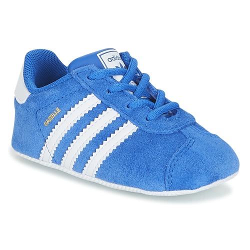 Schuhe Kinder Sneaker Low adidas Originals GAZELLE CRIB Blau