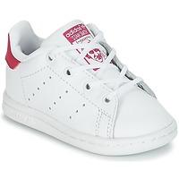 Schuhe Mädchen Sneaker Low adidas Originals STAN SMITH I Weiss / Rose