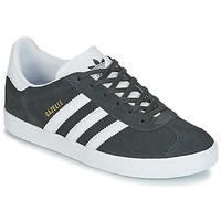 Schuhe Kinder Sneaker Low adidas Originals GAZELLE J Grau